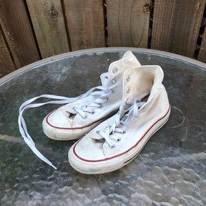 Converse White High Top Women's Shoes
